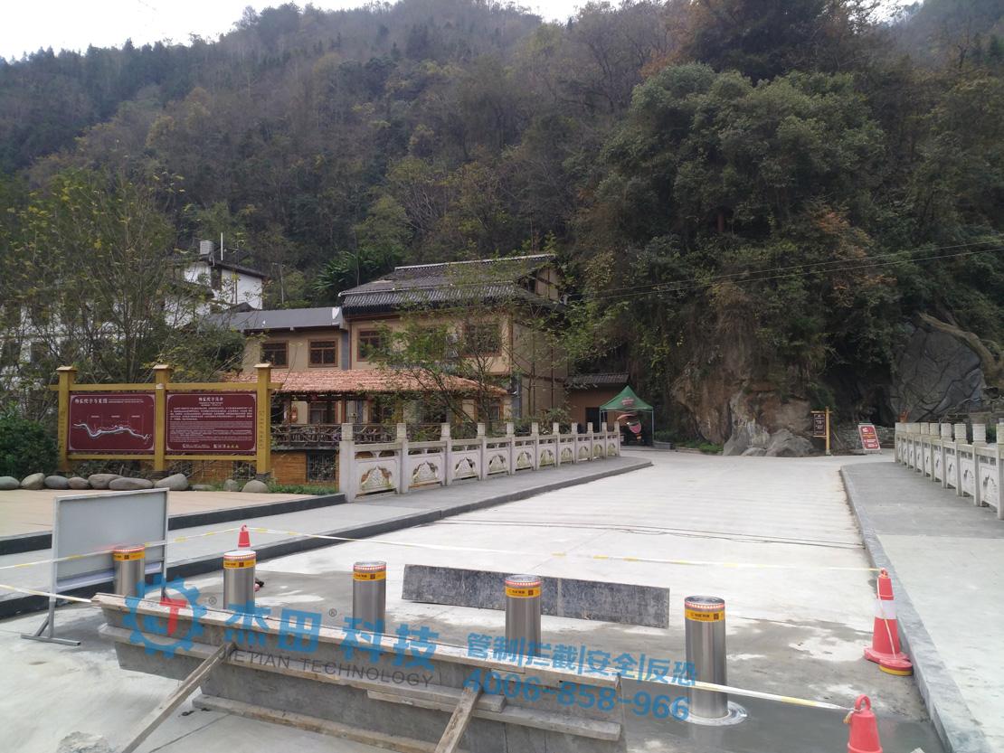 陕西杨家院子度假村桥头升降柱